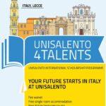 Unisalento4Talents Scholarship Programme Call 2021